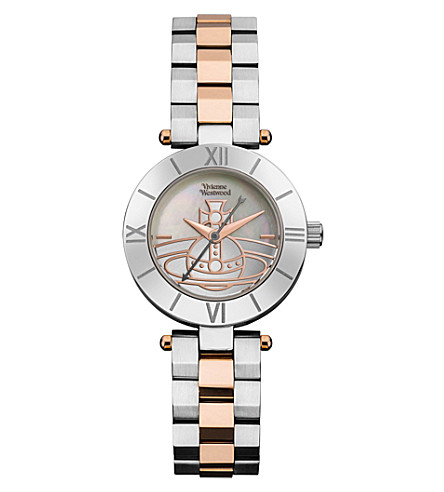 VIVIENNE WESTWOOD VV092SLTT Westbourne Orb stainless steel and PVD rose gold-plated watch