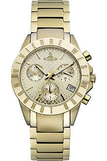 VIVIENNE WESTWOOD Westminster gold-toned watch