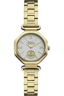 VIVIENNE WESTWOOD Gold-toned and white watch