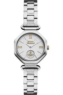 VIVIENNE WESTWOOD Silver-toned and white watch
