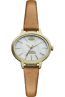 VIVIENNE WESTWOOD Elyptic leather watch