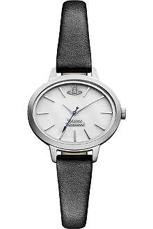 VIVIENNE WESTWOOD Leather-strap white watch