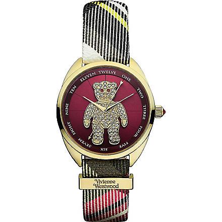 VIVIENNE WESTWOOD Diamanté teddy watch (Red