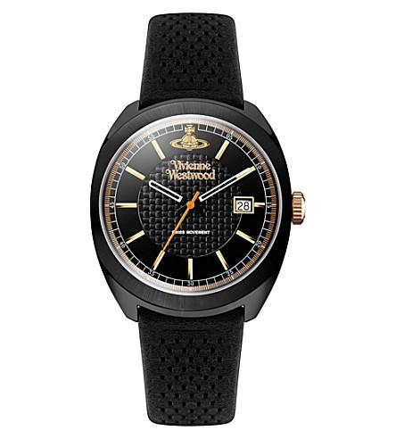 VIVIENNE WESTWOOD vv136bkgr time machine stainless steel watch (Black