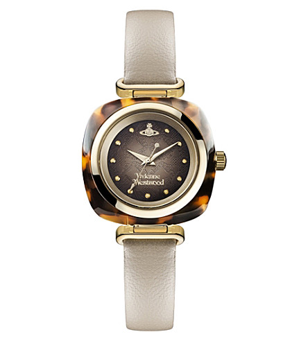 VIVIENNE WESTWOOD VV141BG Time Machine stainless steel and leather watch (Multi-coloured