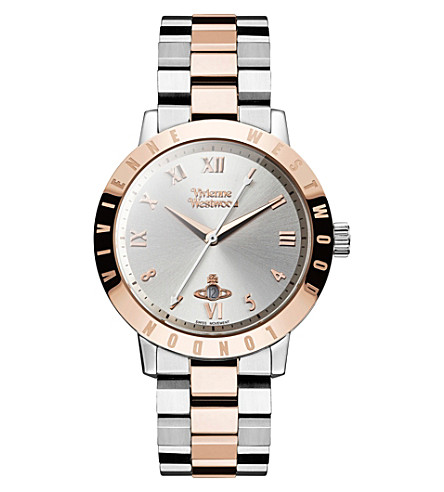 VIVIENNE WESTWOOD VV152RSSL stainless steel and PVD rose gold-plated watch (Silver