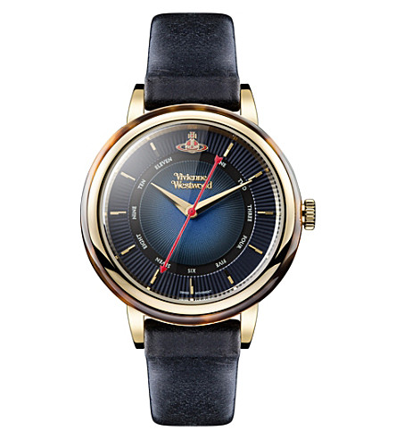 VIVIENNE WESTWOOD VV158BLBL Portobello genuine leather watch
