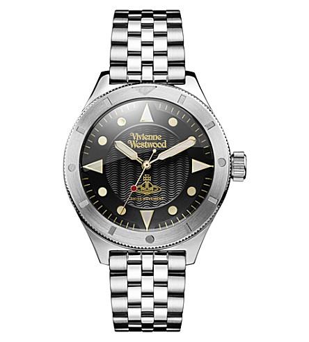 VIVIENNE WESTWOOD VV160BKSL Smithfield stainless steel watch