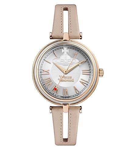 VIVIENNE WESTWOOD VV168SLPK Farringdon 不锈钢皮表带腕表