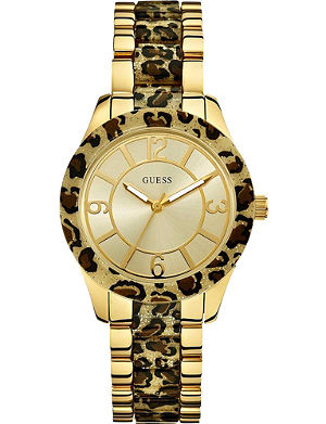 GUESS W0014L2 gold-toned watch