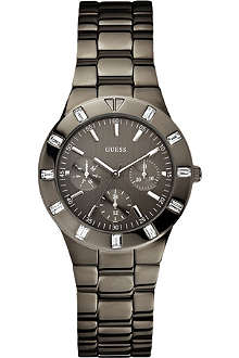 GUESS W0027L1 gunmetal stainless steel watch