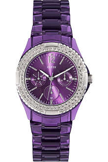 GUESS W0062L2 Rock Candy stainless steel watch