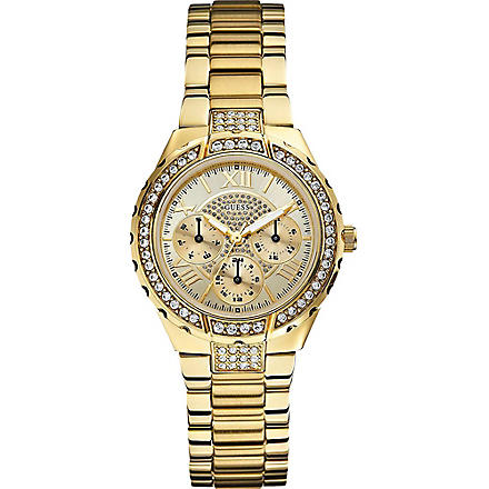 GUESS W0111L2 Viva gold-toned watch (Gold