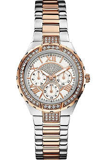 GUESS W0111L4 Viva two-toned watch