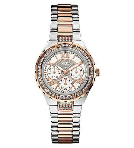 GUESS W0111L4 Viva two-toned watch (White