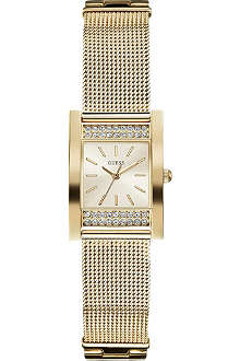 GUESS W0127L2 Nouveau gold-toned stainless steel watch