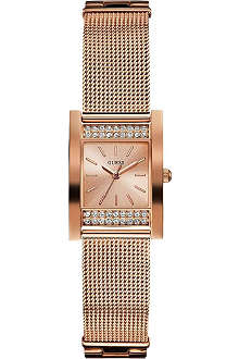 GUESS W0127L3 rose gold-toned watch