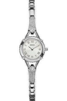 GUESS W0135L1 crystal-encrusted stainless steel watch