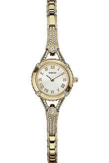 GUESS W0135L2 crystal-encrusted gold-toned watch