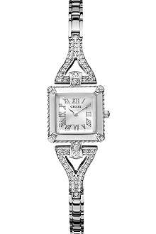 GUESS W0137L1 crystal-encrusted stainless steel watch