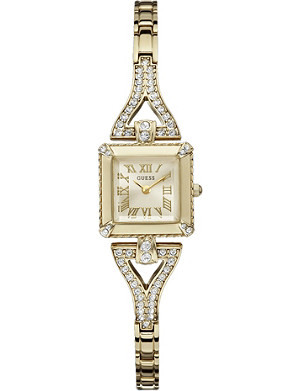 GUESS W0137L2 crystal-encrusted stainless steel watch