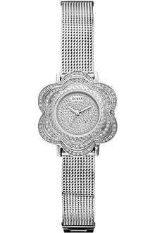 GUESS W0139L1 flower stainless steel watch