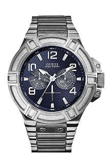 GUESS W0218G2 Rigor silver-toned watch