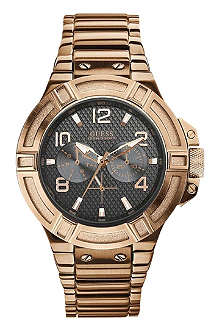 GUESS W0218G3 Rigor rose gold-toned watch