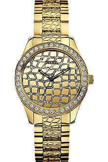 GUESS W0236L2 Croco glam gold-toned watch