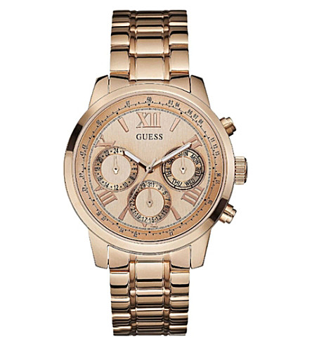 GUESS W0330L2 Sunrise rose gold-toned stainless steel watch (Rose+gold