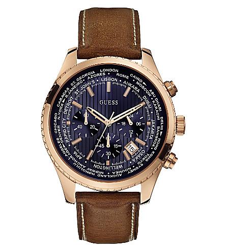 GUESS W500g1 men's Pursuit watch (Blue