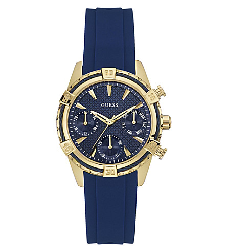 GUESS W0562L2 Catalina gold-plated quartz watch (Blue