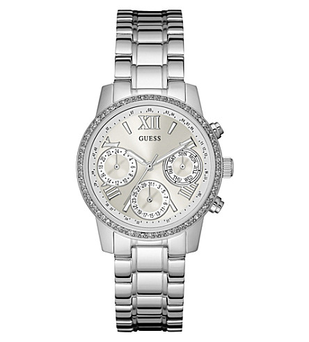 GUESS w0623l1 mini sunrise stainless steel watch