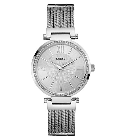 GUESS W0638L1 Soho stainless steel watch (Silver