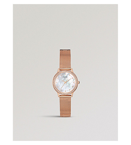 GUESS W0647L2 Chelsea rose gold-plated watch