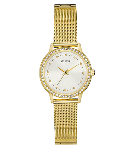 GUESS W0647L7 Chelsea gold-plated stainless steel watch