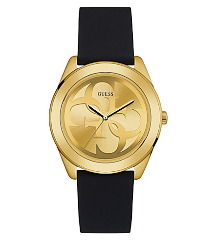 GUESS W0911L3 G Twist gold-plated and silicone watch