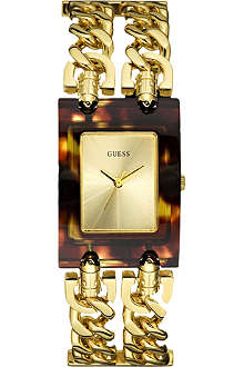GUESS W11605L1 gold-toned stainless steel bracelet watch