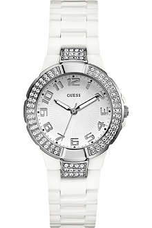 GUESS W11611L1 stainless steel stone-set watch