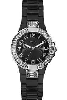 GUESS W11611L2 stainless steel stone-set watch