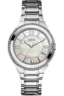 GUESS W12117L1 stainless steel stone-set watch