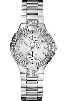GUESS W12638L1 stainless steel stone-set watch