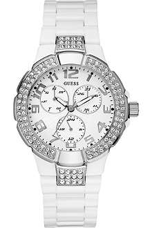 GUESS W13564L1 stainless steel and polycarbonate chronograph watch