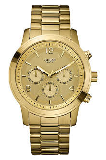 GUESS W14043L1 Spectrum gold–plated unisex watch