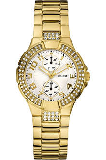 GUESS W15072L1 gold-toned stainless steel watch