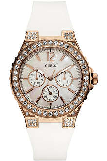 GUESS W16577L1 stainless steel stone-set watch