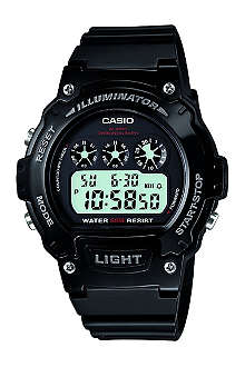 CASIO W214HC1AVEF resin digital chronograph watch