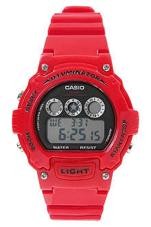 CASIO W214HC4AVEF resin digital chronograph watch