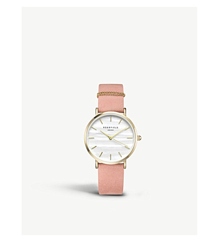 ROSEFIELD WBPG-W72 The West Village leather and gold-plated watch
