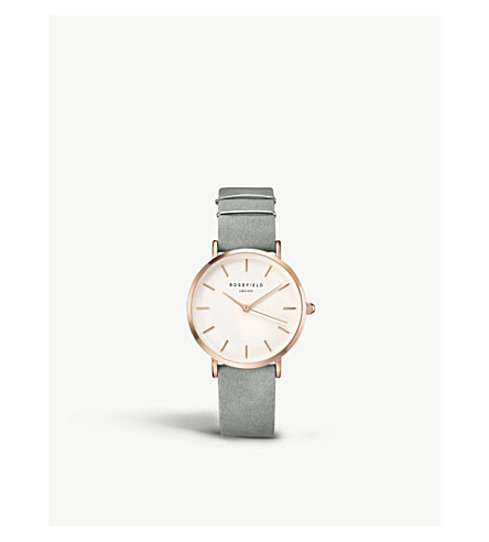 ROSEFIELD WMGR-W74 The West Village leather and gold-plated watch
